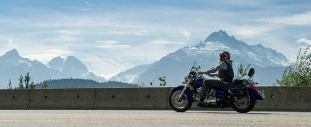 motorcycle photography near Whistler BC