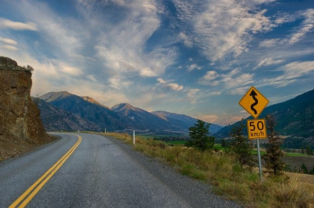 BC's Hwy 12 follows the Fraser River