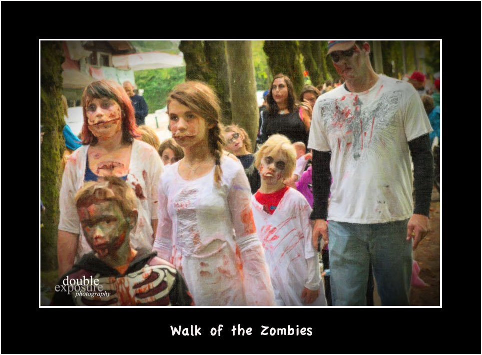 Zombies walk in Fort Langley