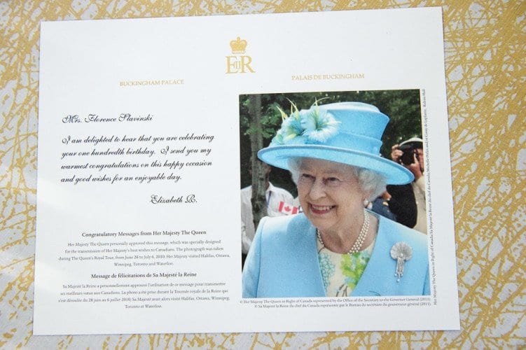 Greetings from the Queen!