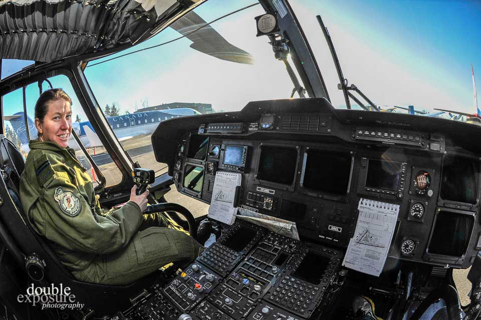 Meet the pilot of the Search and Rescue helicopter that flew over with a full crew from Comox.