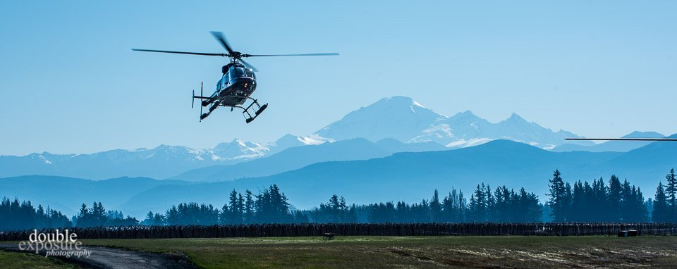 Up to a dozen helicopters were on the job for the weekend.