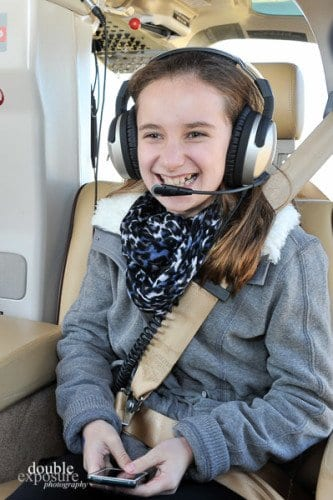 Girls go for a free helicopter flight at Girls Fly Too
