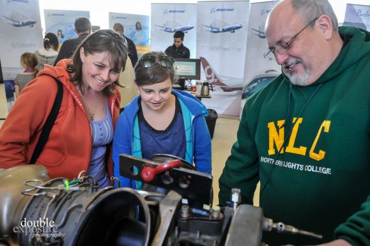 When parents attend with their daughters, there is support at home for careers in aviation.