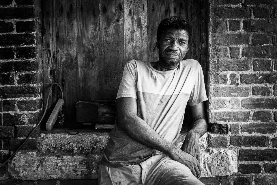 Portrait of a Jamaican man