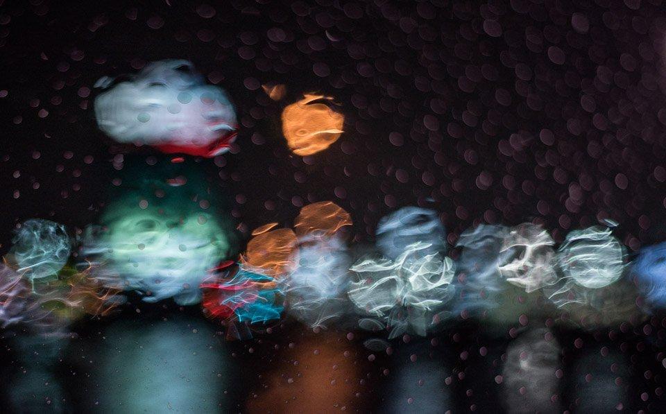 raindrops in the night