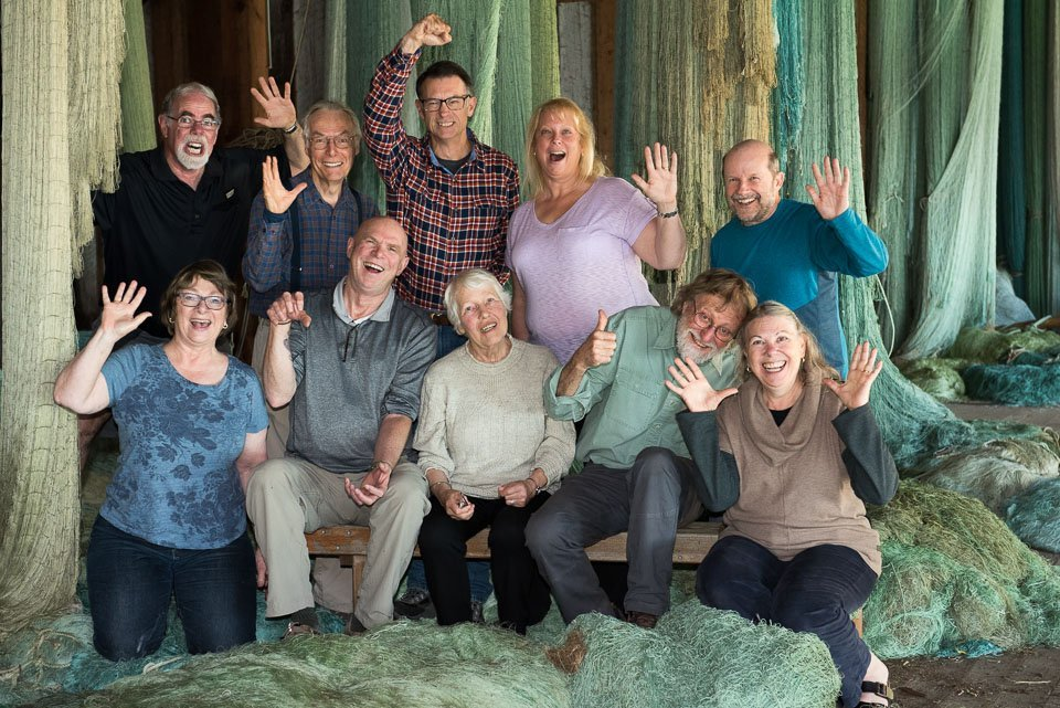Ten photographers at the end of Develop Your Creative Vision workshop.