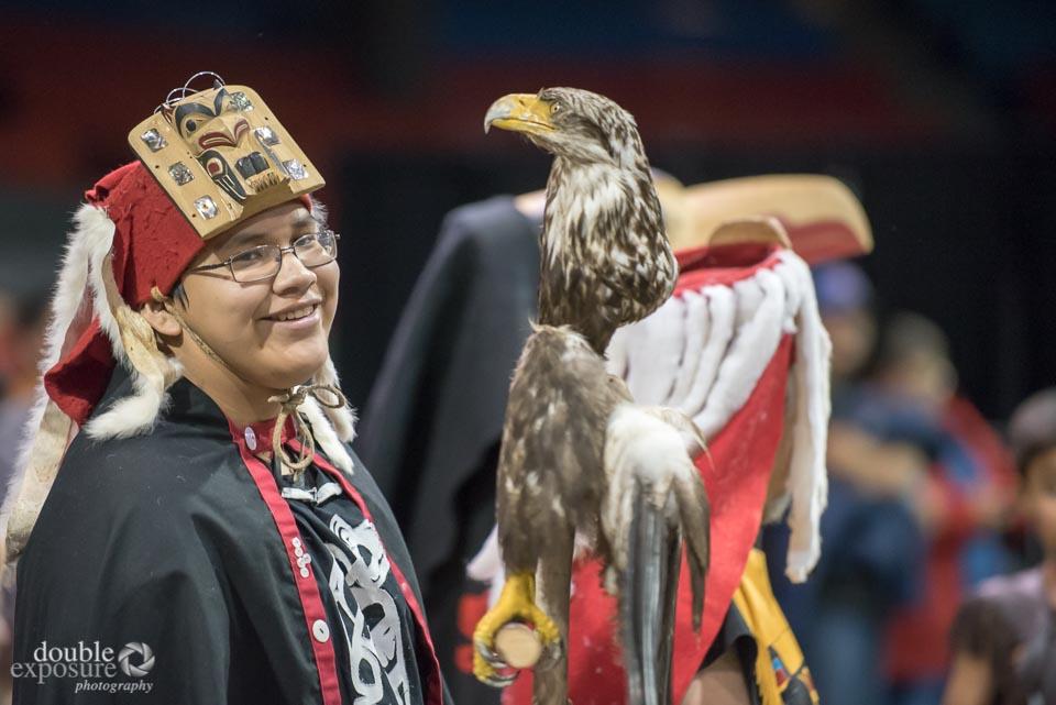 Young aboriginal dancer pauses