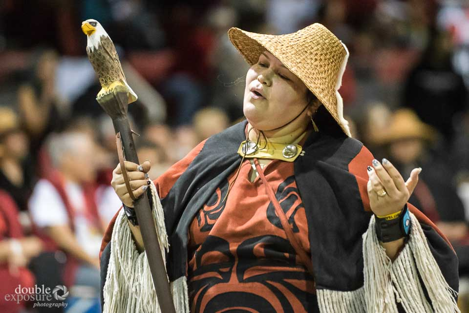 An aboriginal dance leader