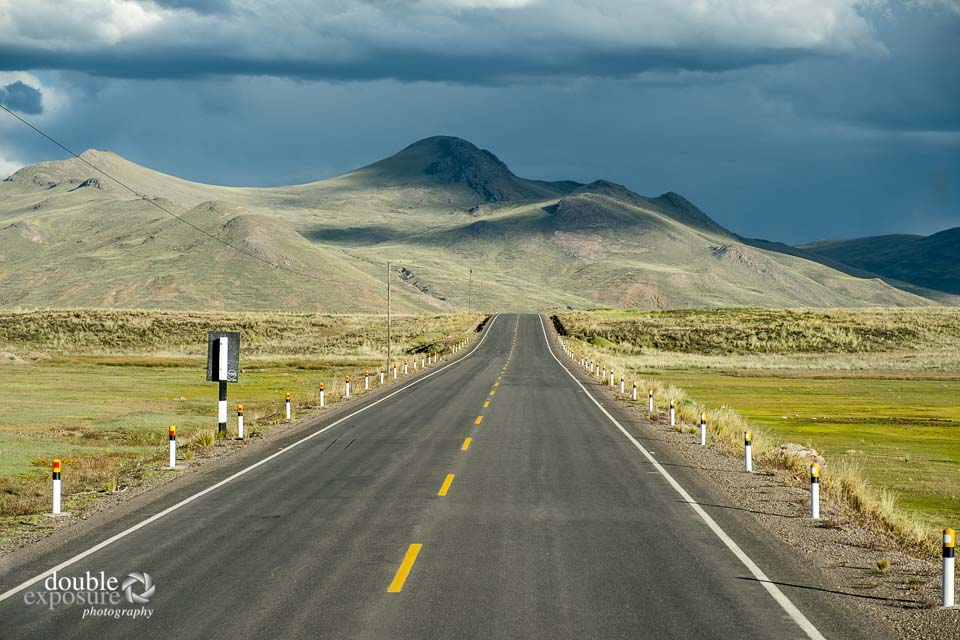 Mountain roads through the Andean highlands.