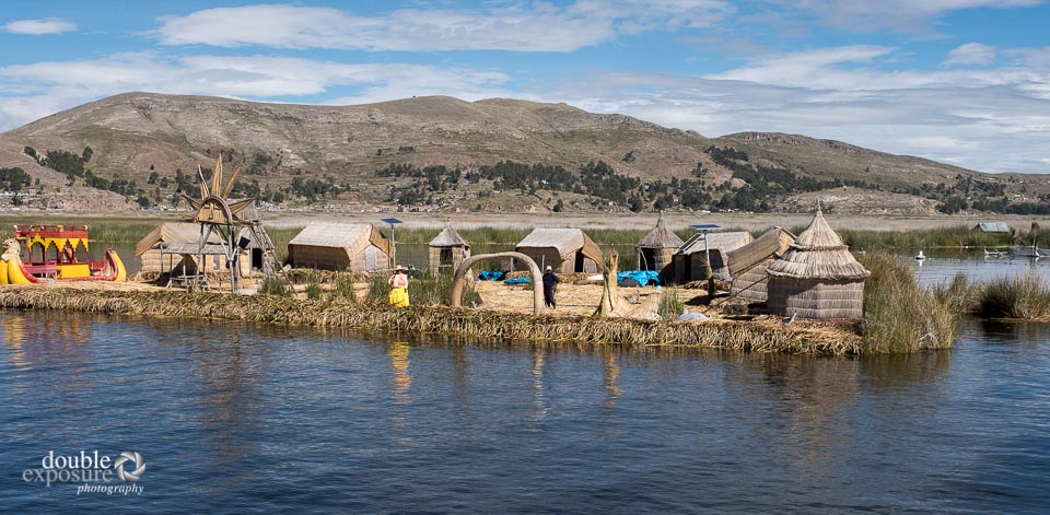 islands made of reeds on Lake Titikaka.