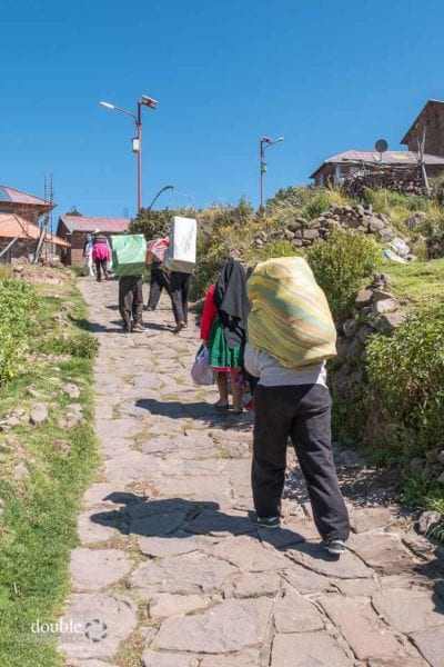 Steep hills on the island of Taquile.