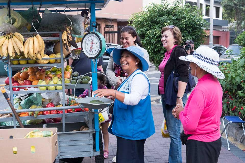 Street vendors on every corner of Lima.