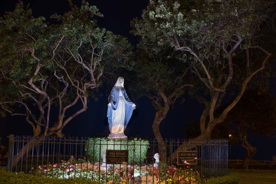 Mother Mary in a park of Lima.