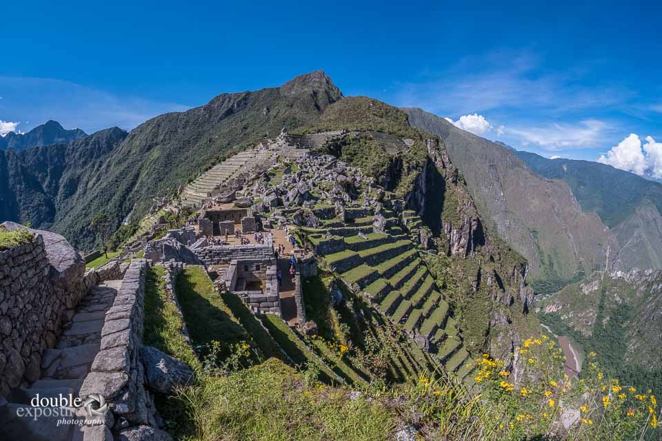 The Inca stone quarry at Machu Picchu.