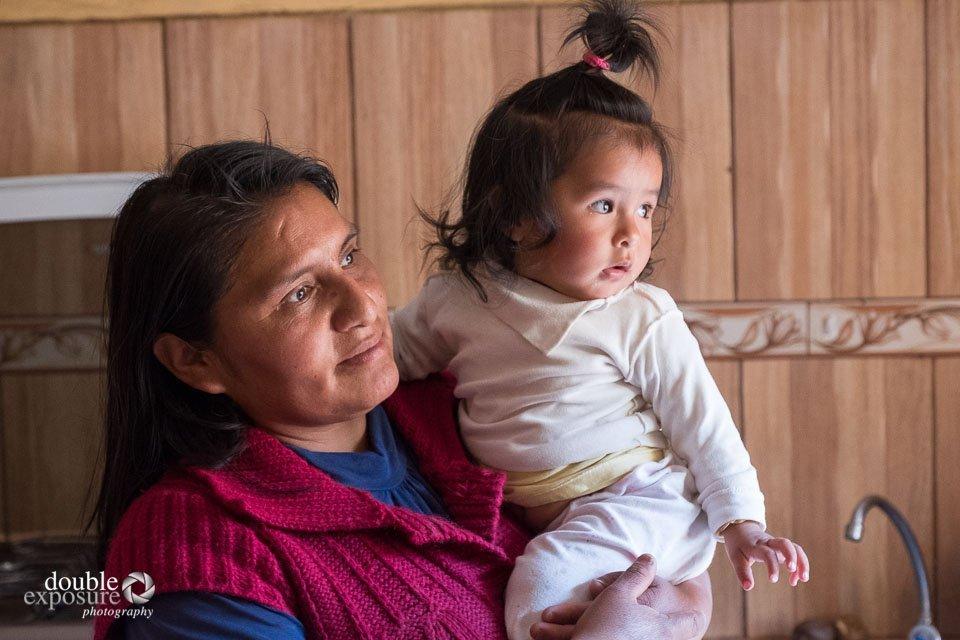 Visiting a child's home in Peru.