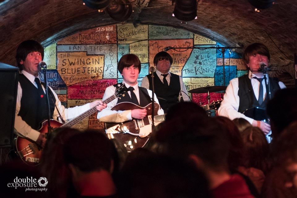 A Beatles tribute band performs at the Cavern