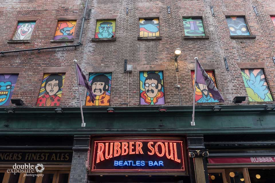 The Beatles are everywhere in the Cavern Quarter.
