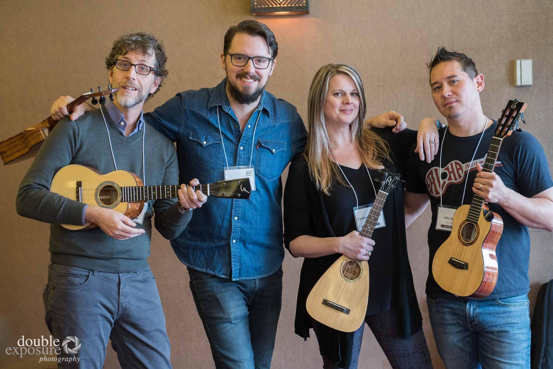 four ukulele instructors