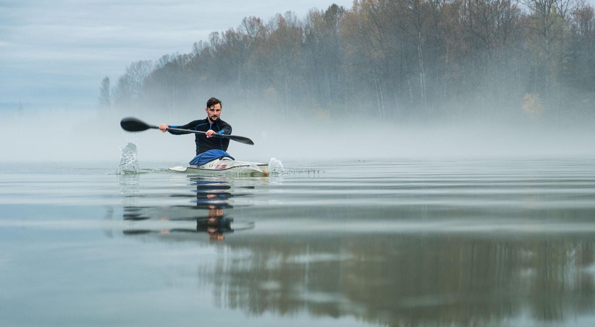 paddler in kayak