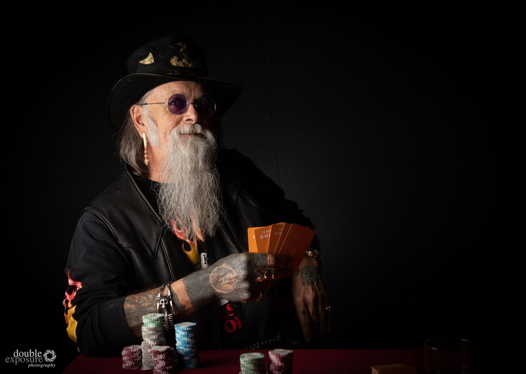 poker player about to win it all