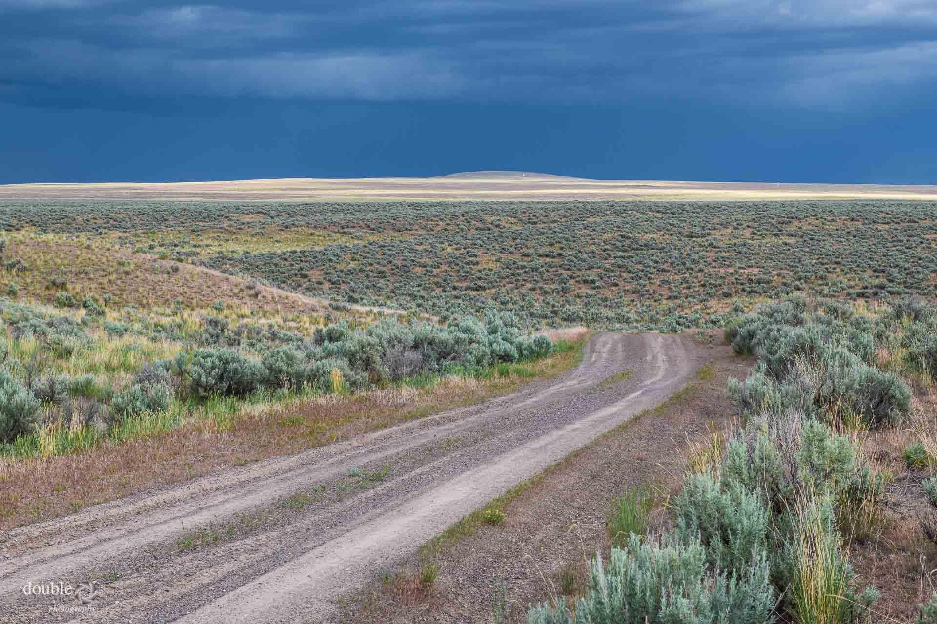 desert scene, heavy sky