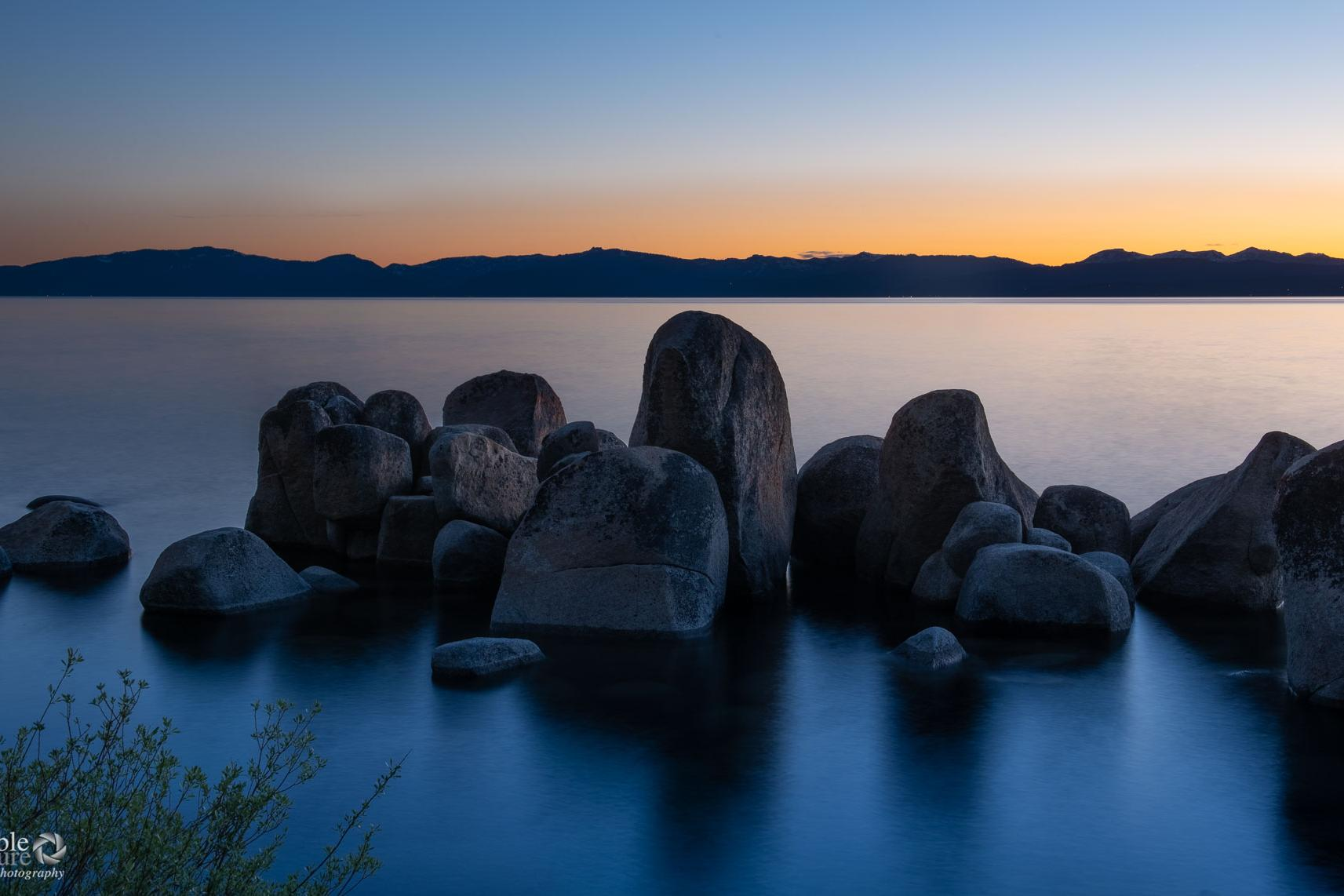 rocky shoreline lake tahoe