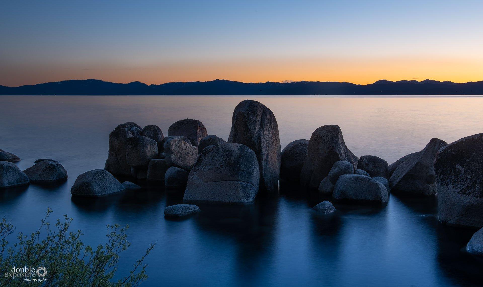 rocky shoreline lake tahoe