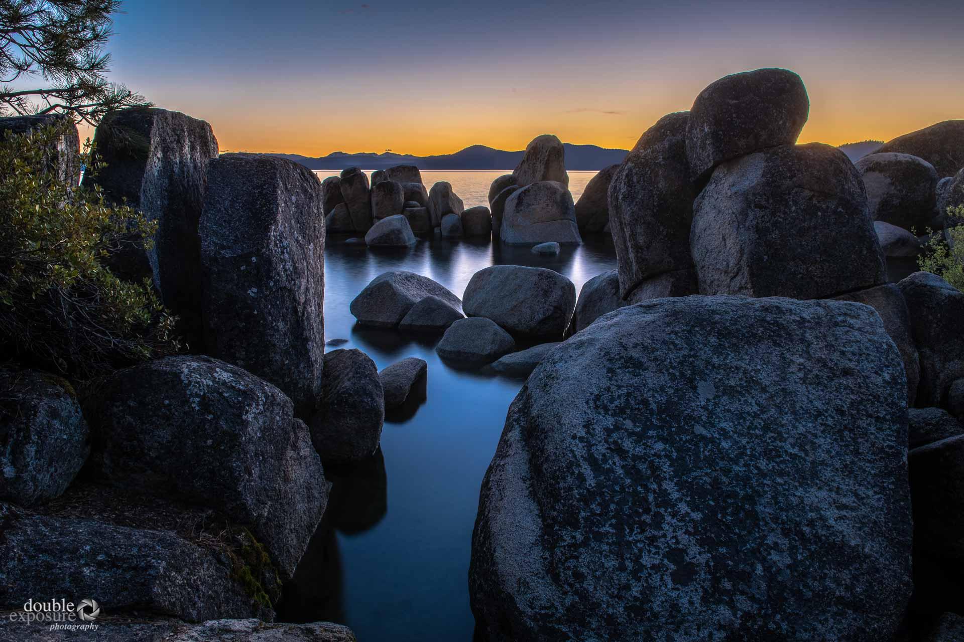 rocky shoreline of Lake Tahoe