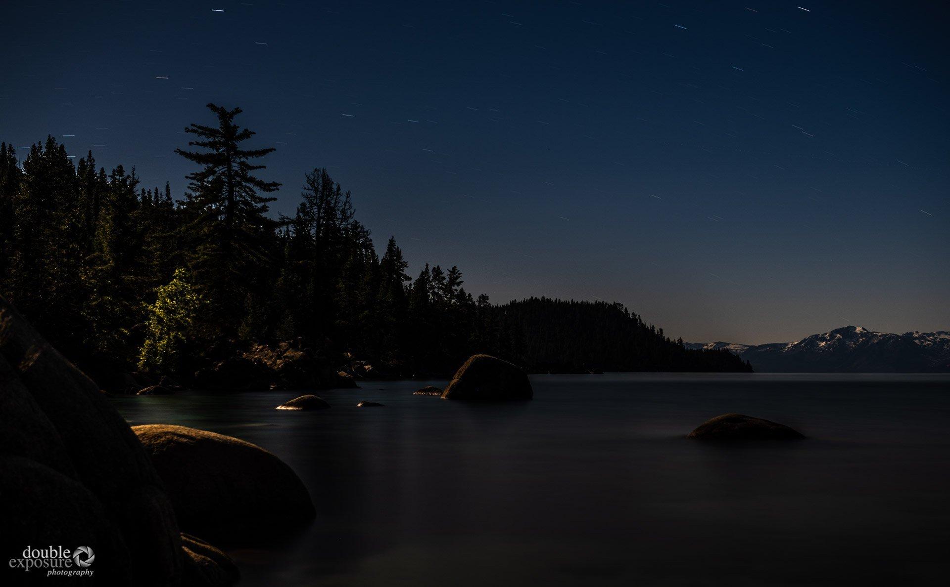 moonlit Lake Tahoe