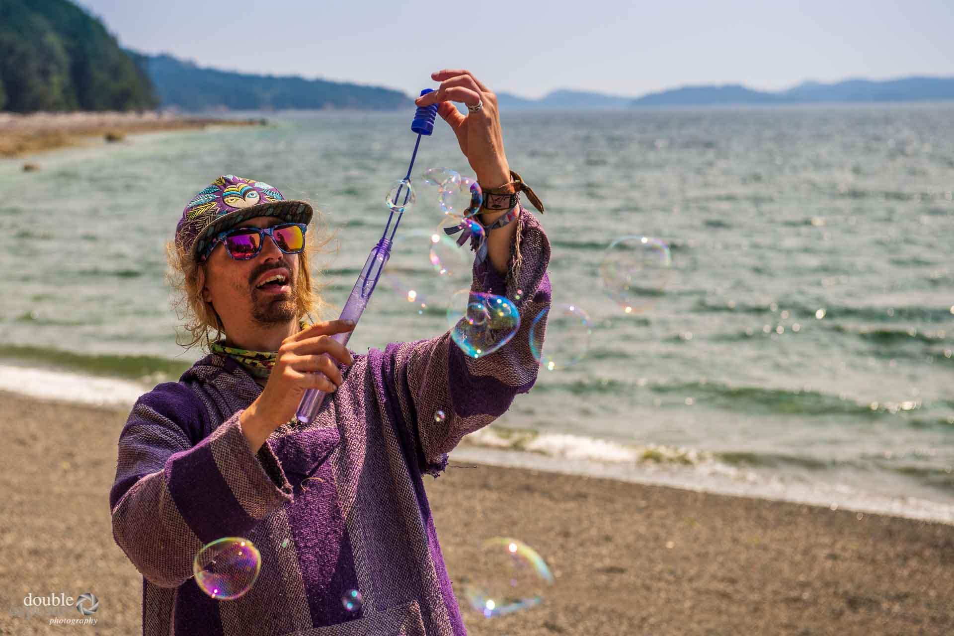 Hippy on the beach