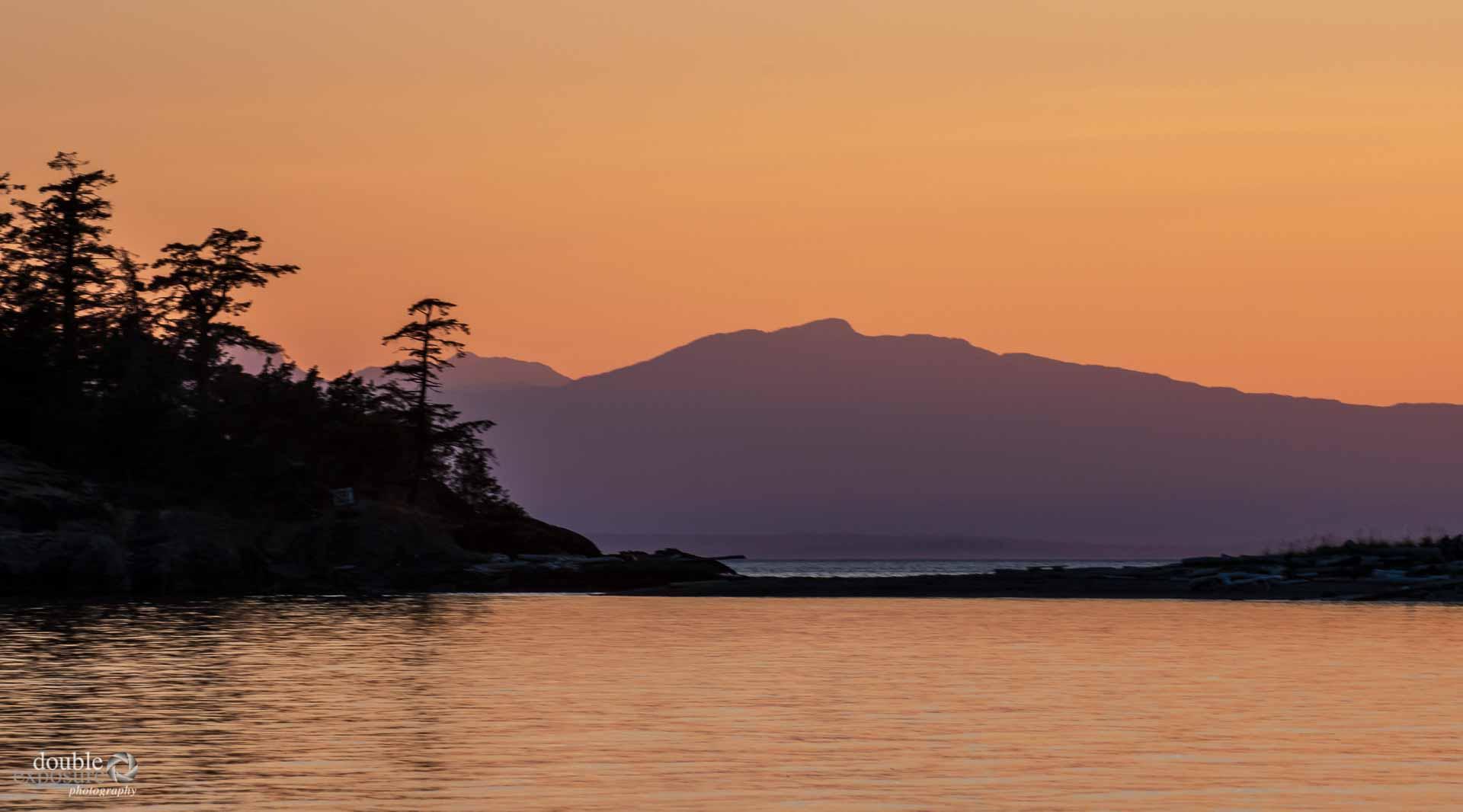 Twilight at Texada Island.