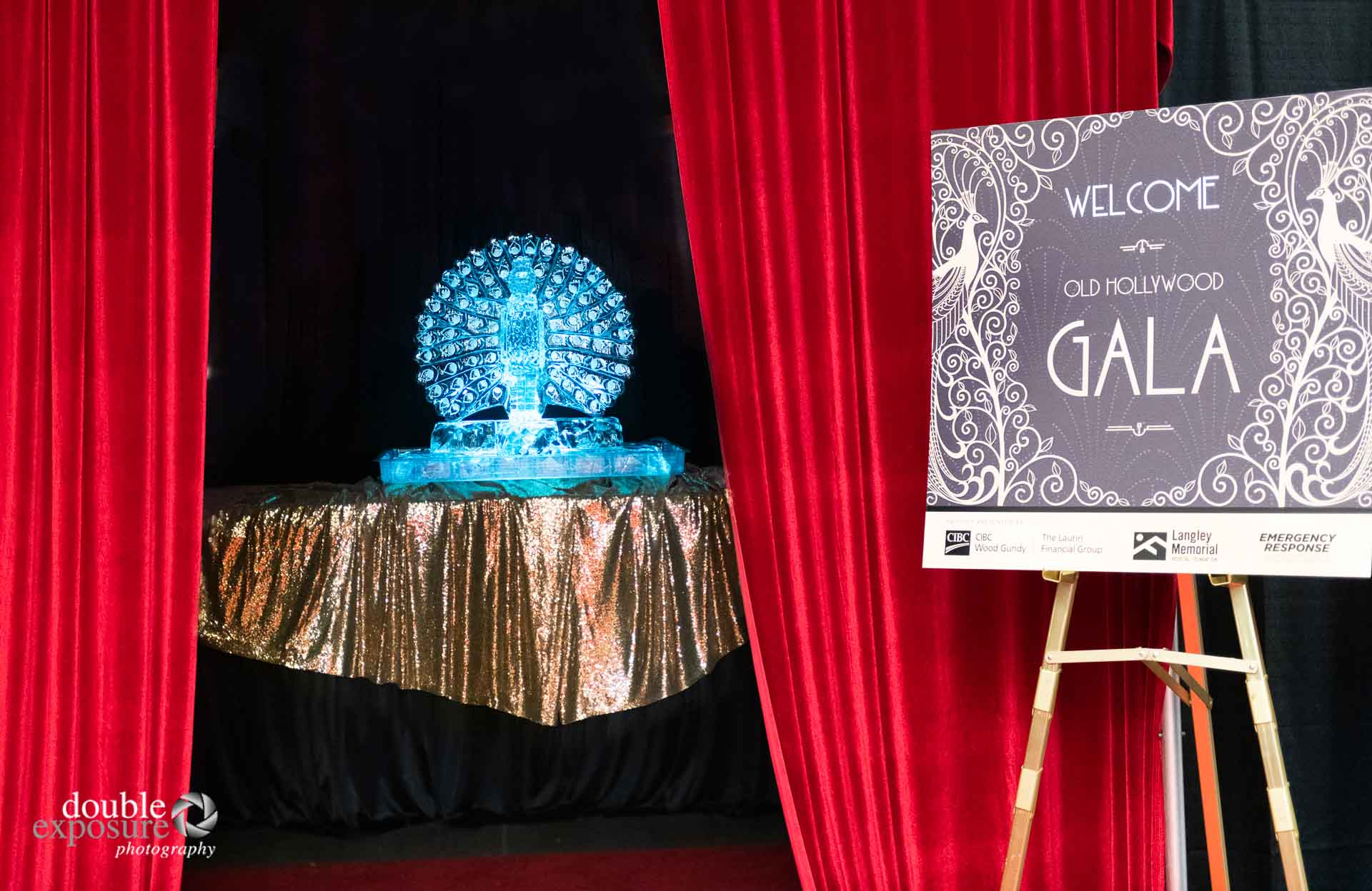 ice sculpture at LMHF Gala 2019