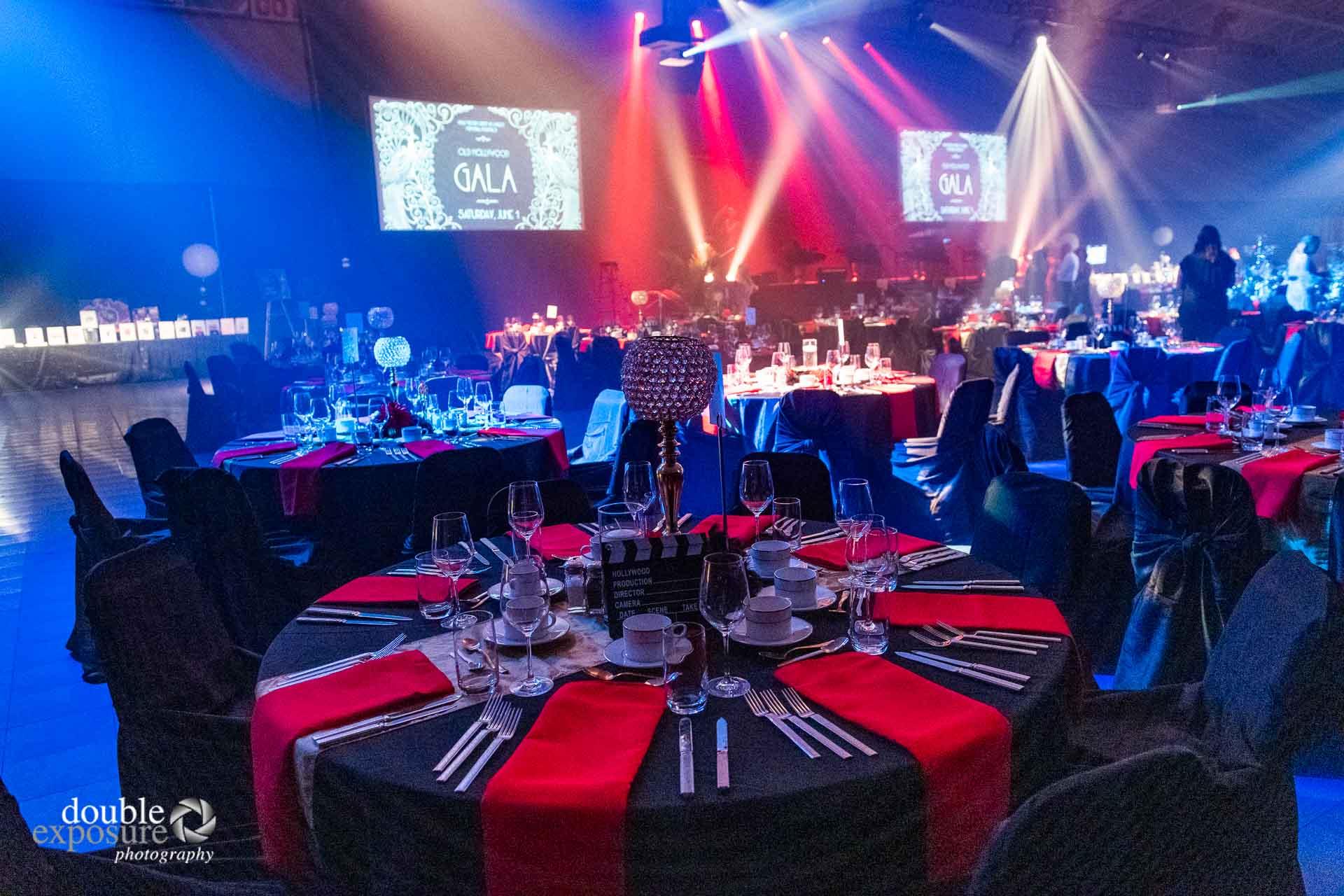 table settings at  LMHF Gala 2019