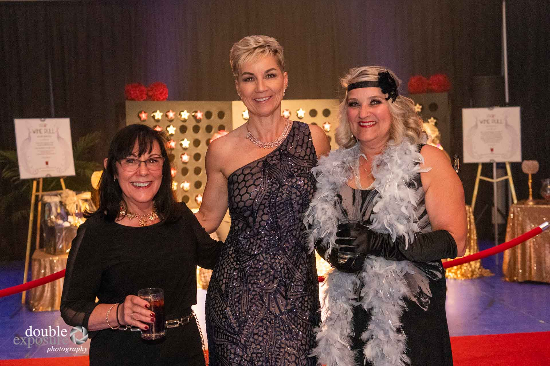 dressed in the theme of Old Hollywood at the  LMHF Gala 2019