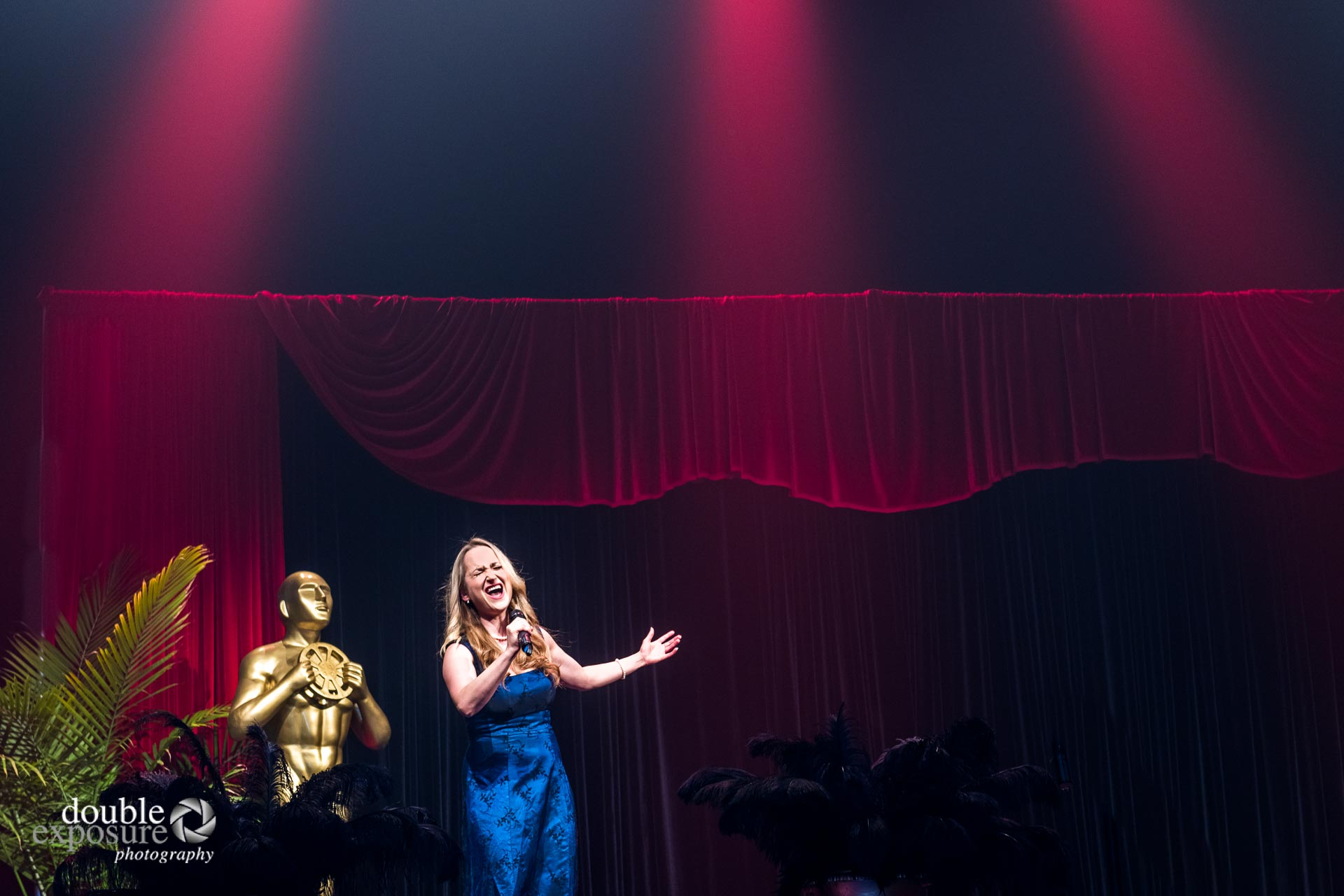 Tiffany Desrosier performing on stage