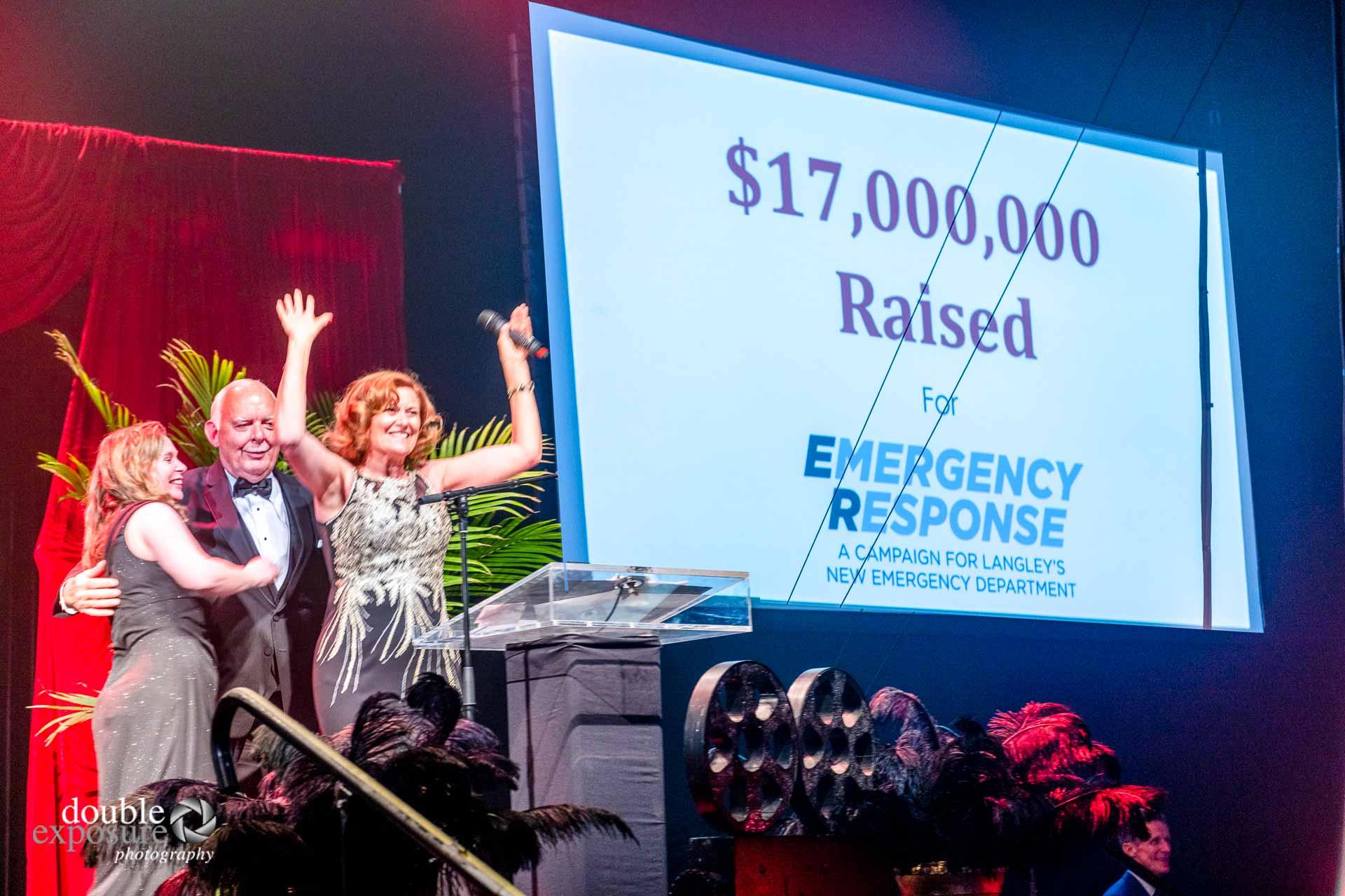 celebrating hospital fund raising