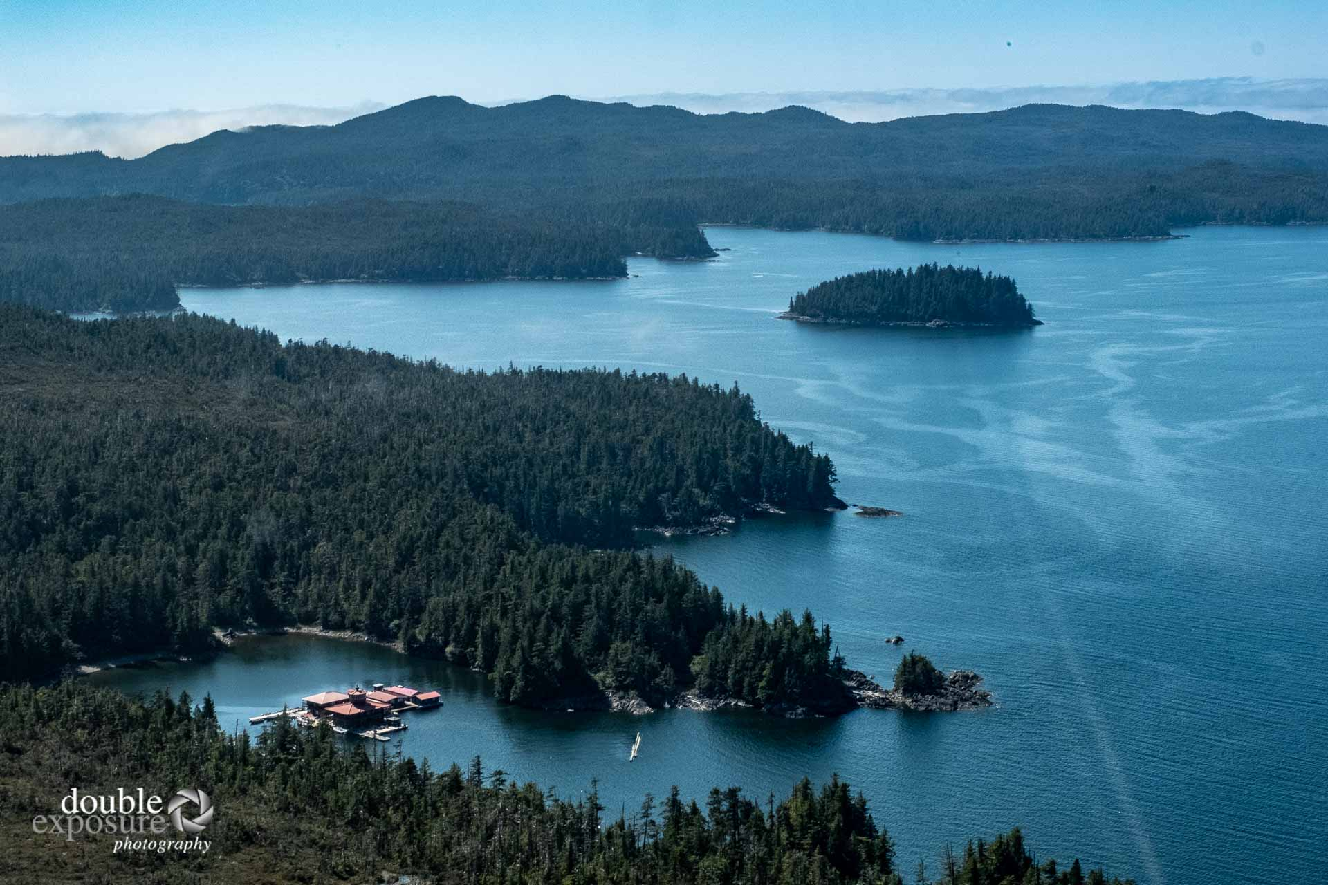 aerial view of Dundas Island, BC