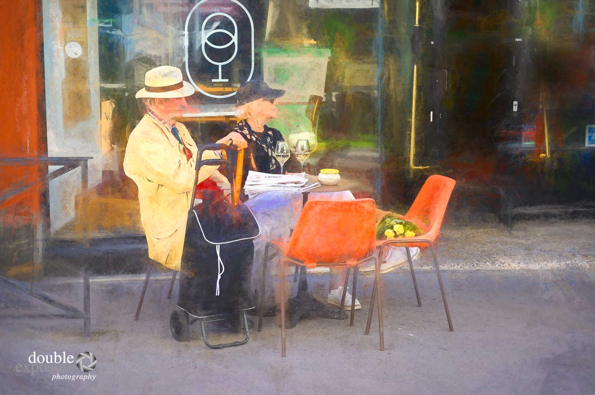 couple having coffee in France