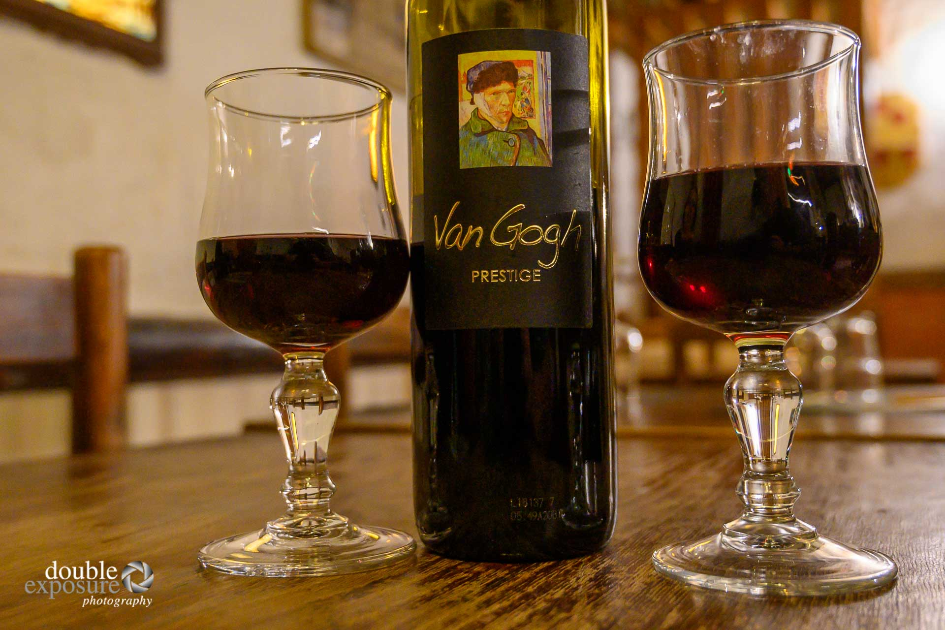 A bottle of Van Gogh wine.