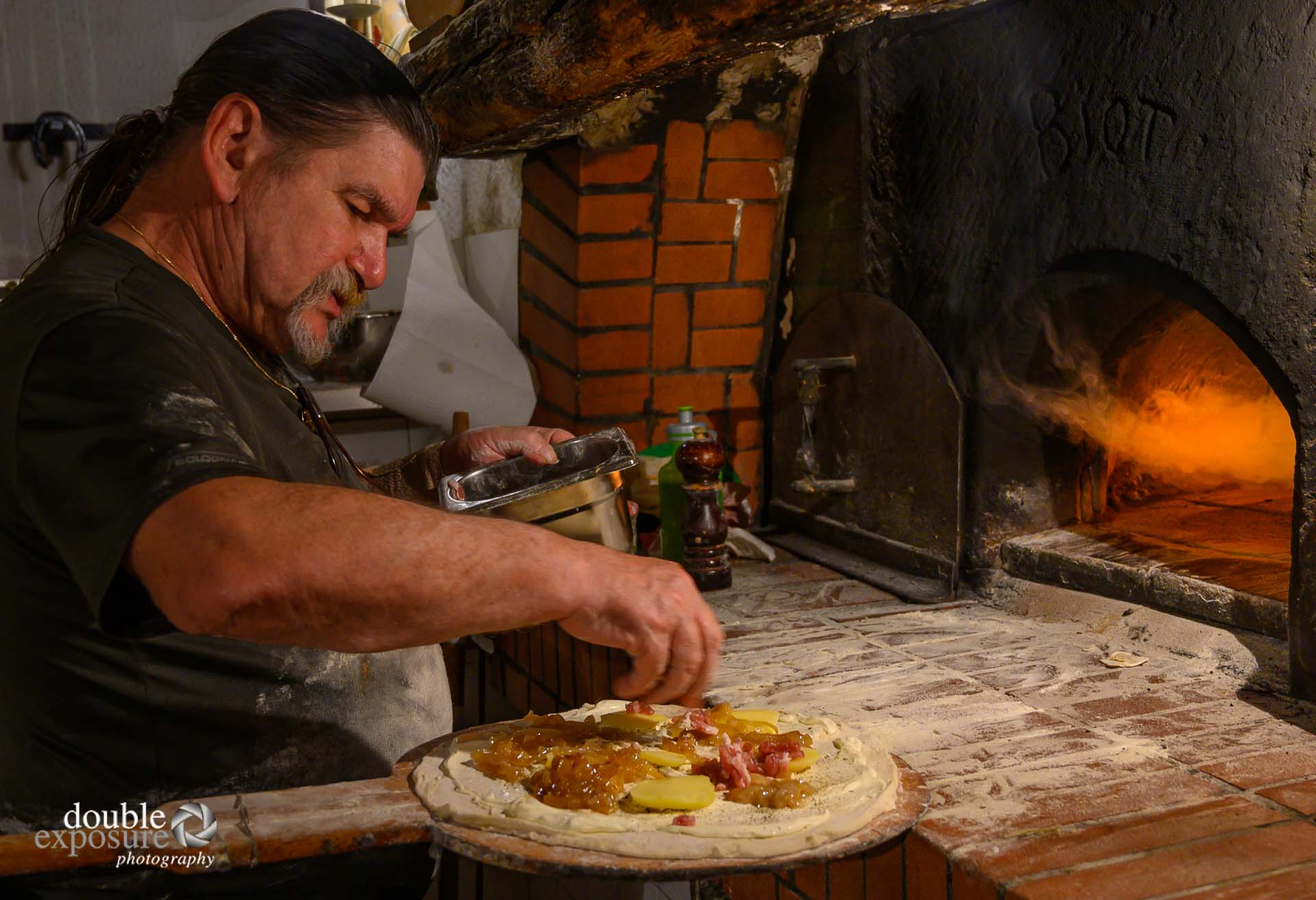 pizza from a wood fired oven
